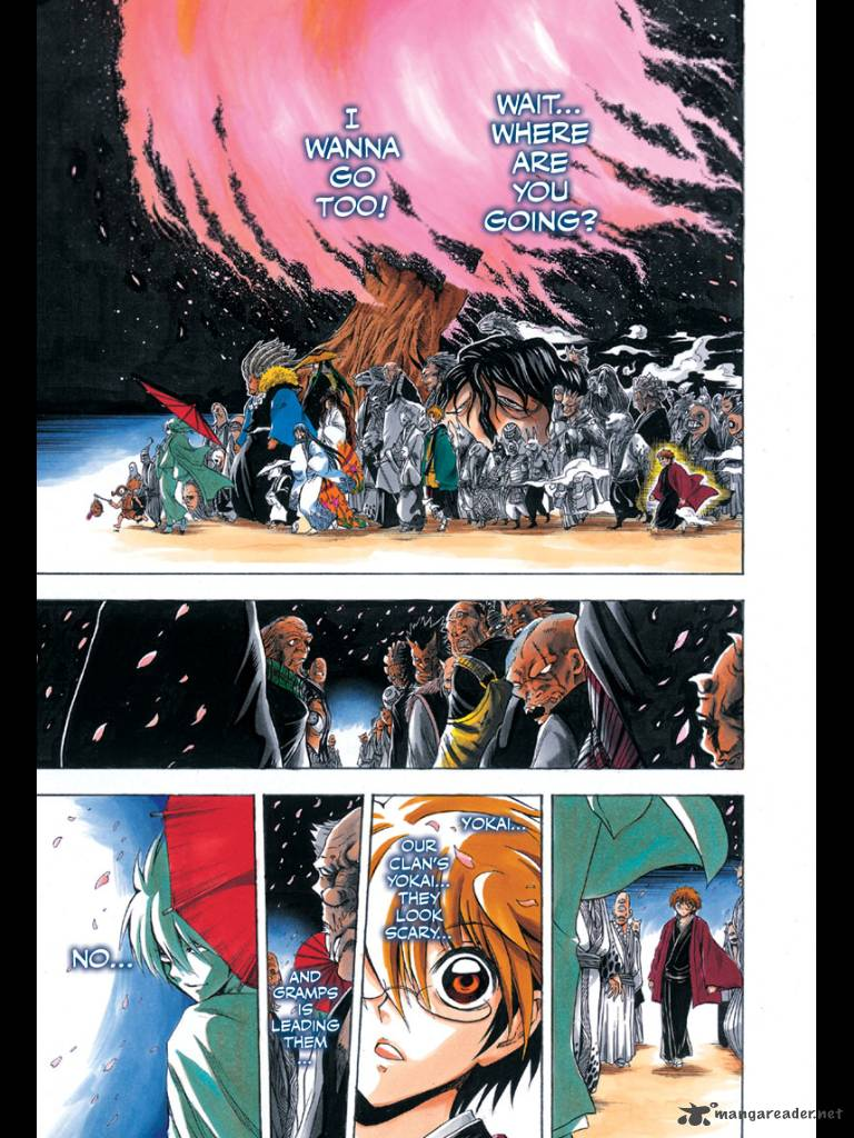 this really proves that nurarihyon no mago is a very well made manga series since it had earned color pages for three chapters - Colored Pages