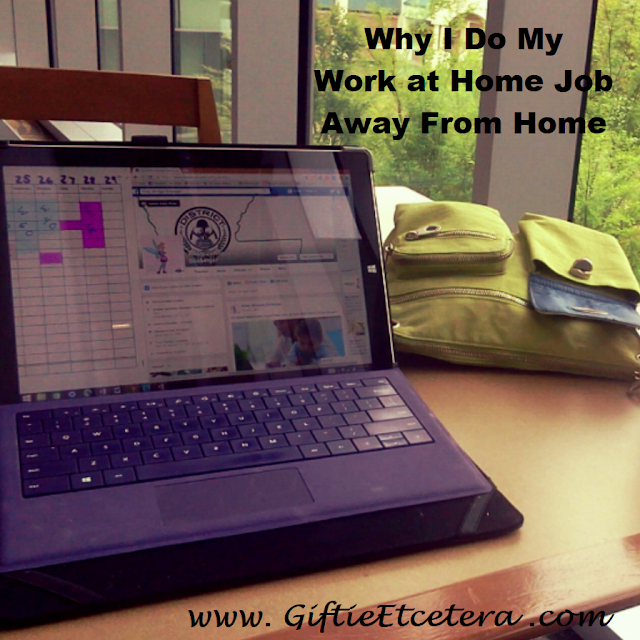 computer, green purse, work-at-home, work at home