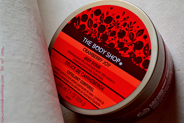 TBS Cranberry Joy Body Scrub Reviews Ingredients