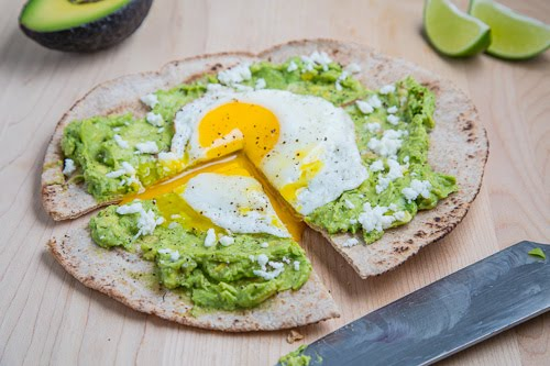 Avocado Breakfast Pizza with Fried Egg