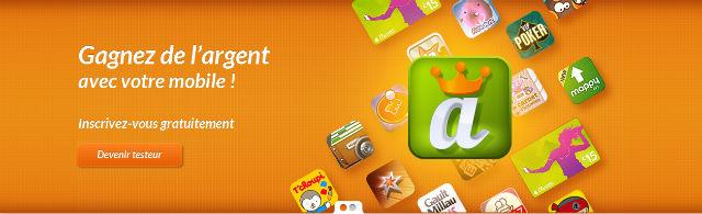 Gagner de l'argent avec son mobile avec AppVip