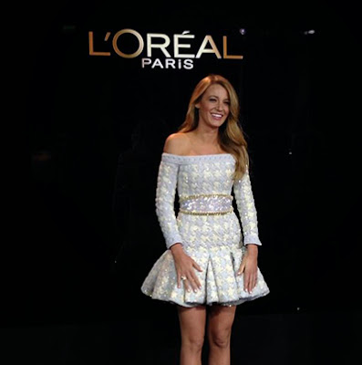 Blake Lively Flips Her Hair For L'Oreal Paris Brand Ambassador