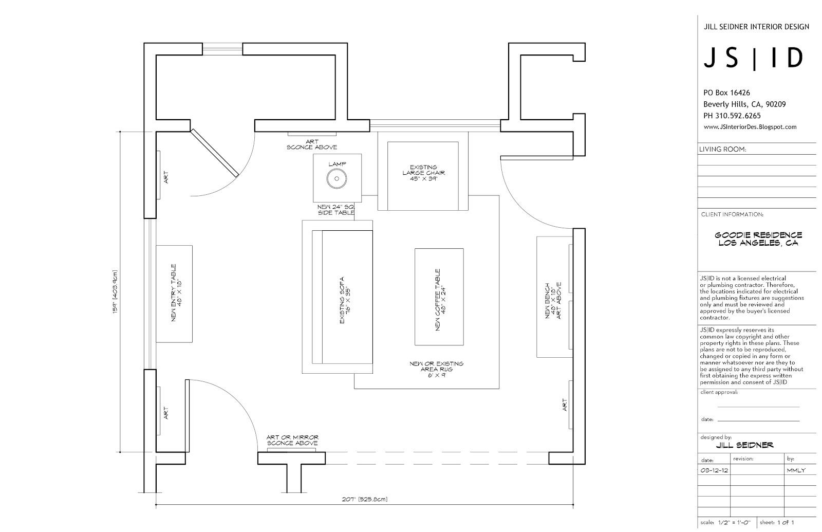 JILL SEIDNER INTERIOR DESIGN: JSID Drawings