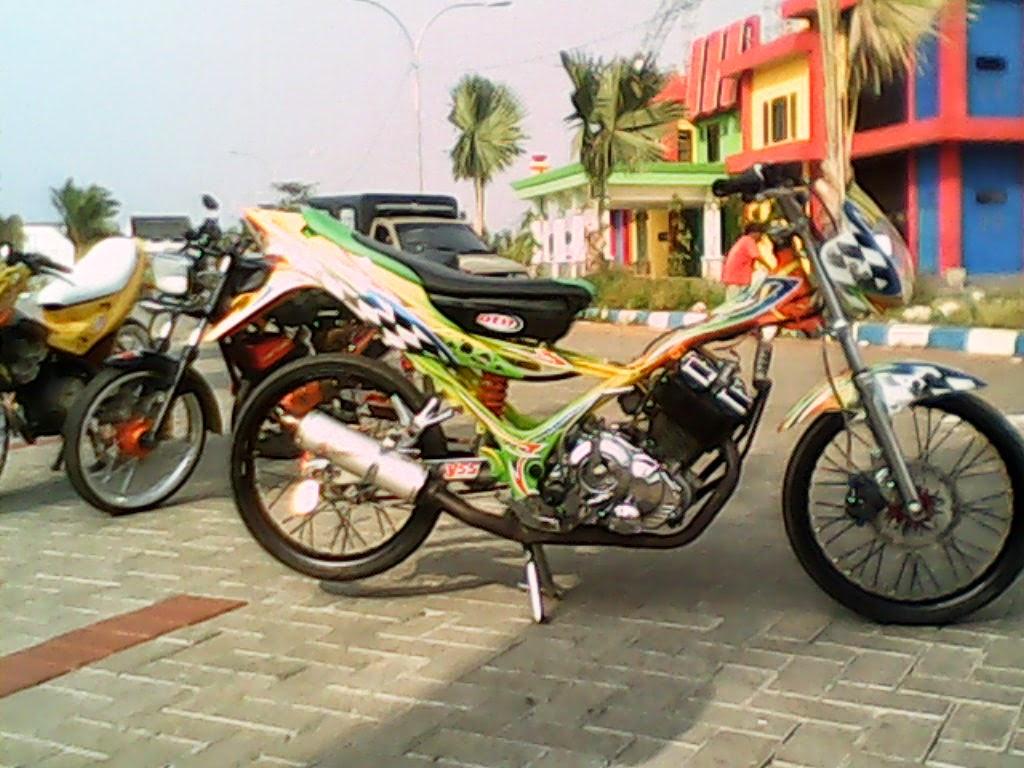 modifikasi motor satria fu 150cc racing look 2014   motor