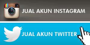 Jual Akun Instagram dan Twitter