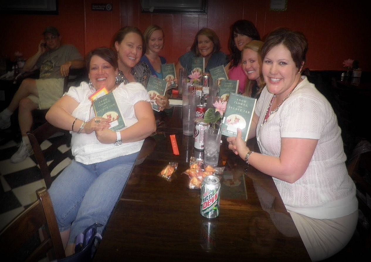 Friends Food Fiction May Book Club Snow Flower and the Secret Fan