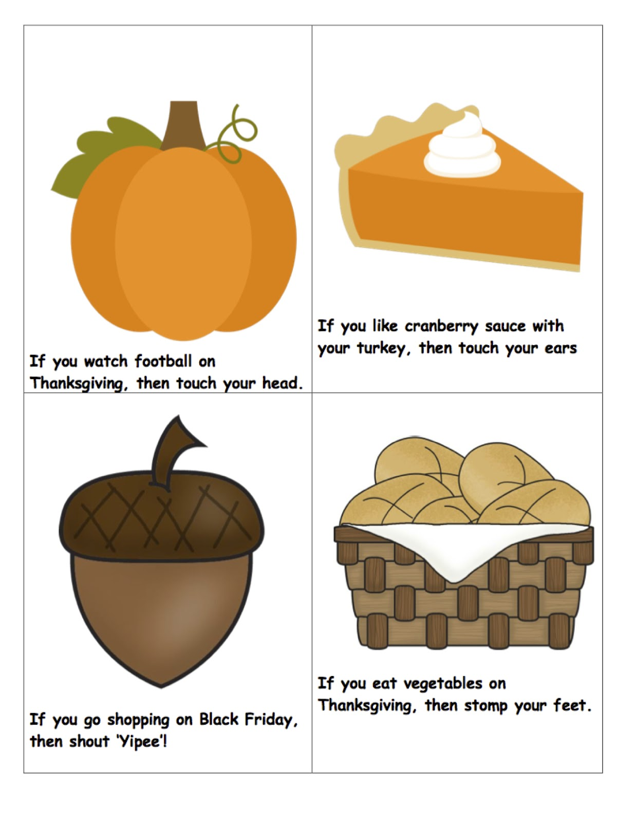 ... : Thanksgiv... Following Directions Activity For Adults
