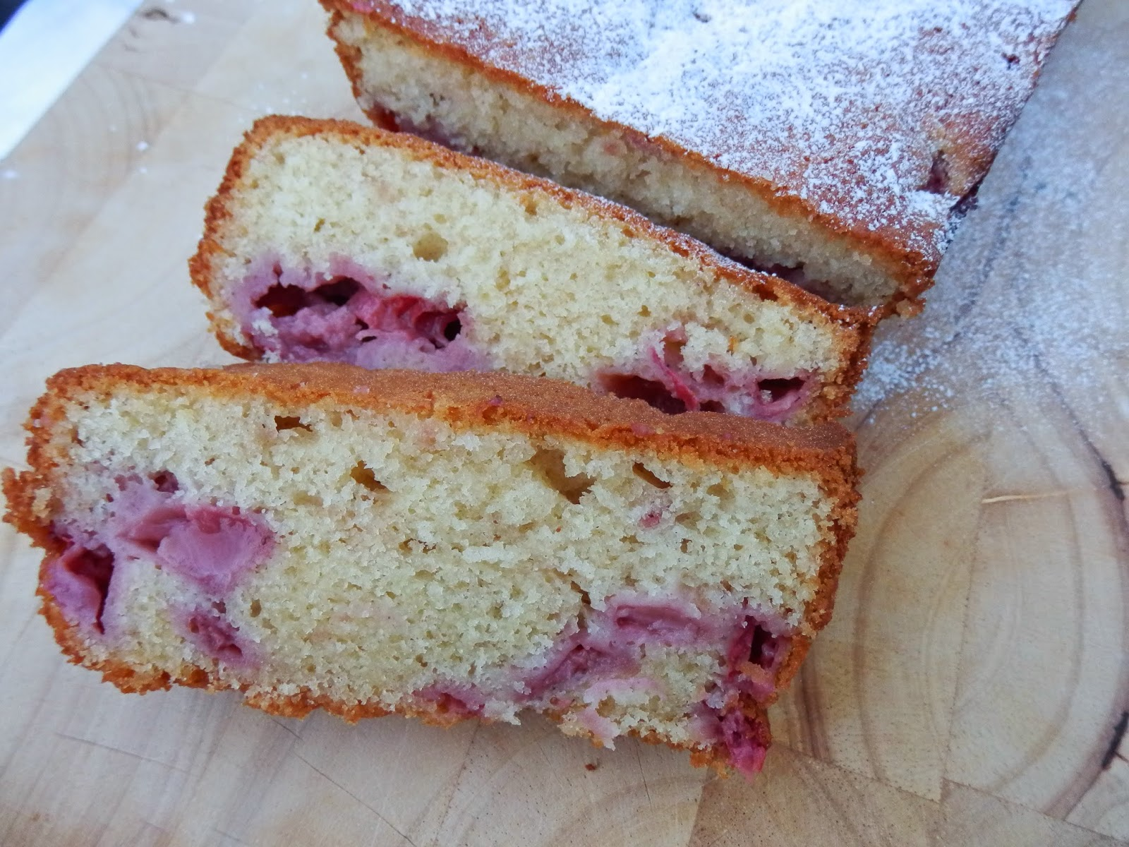 Strawberry Vanilla Loaf Cake