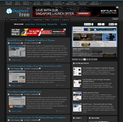 blogpress free template