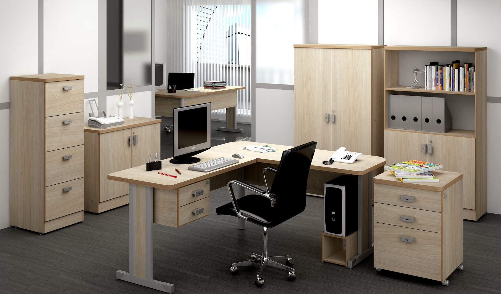 Bella Móveis Móveis e Cadeiras para Escritório: Móveis para  #9D632E 1600x941