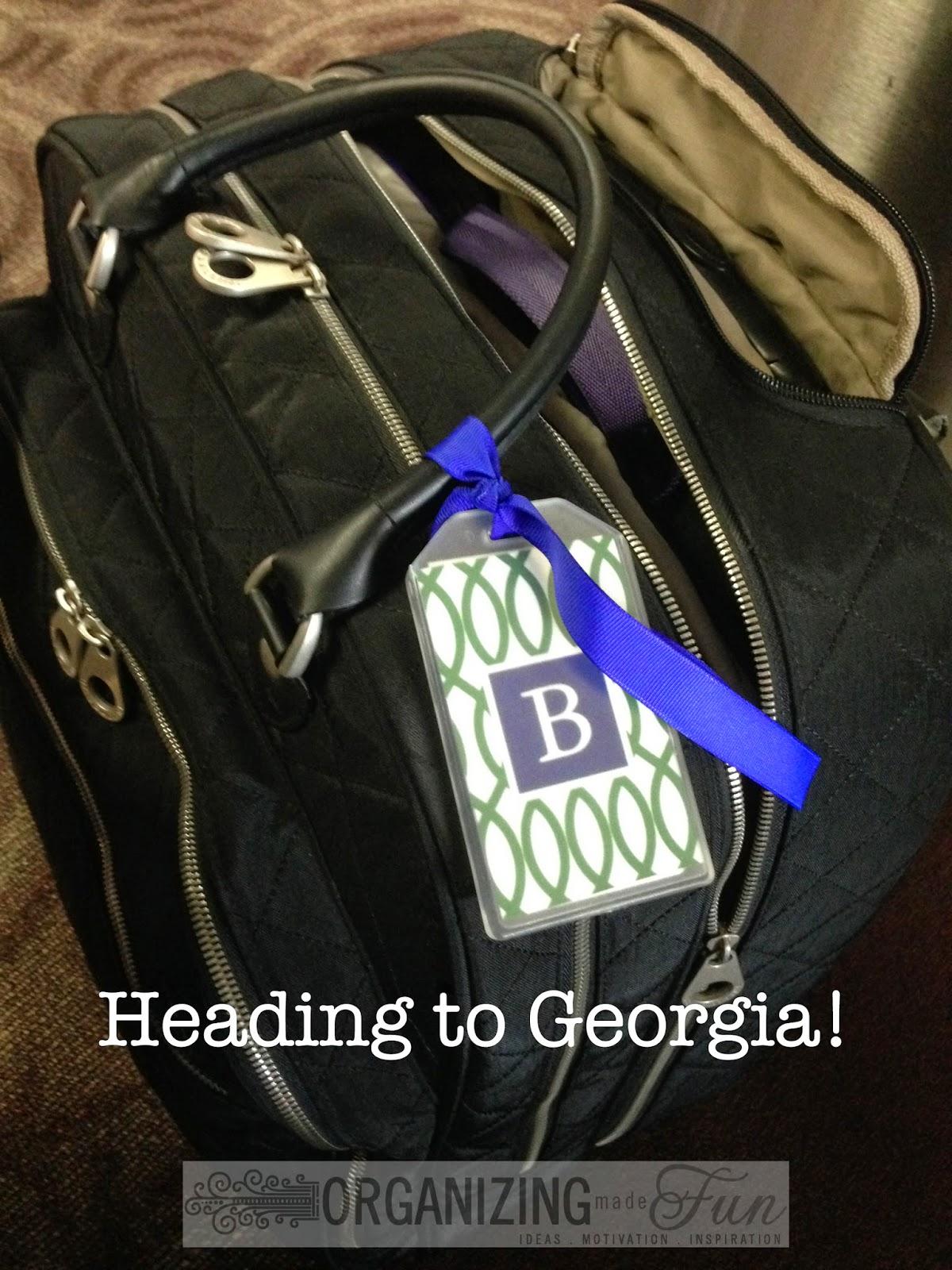 Heading to Georgia :: OrganizingMadeFun.com