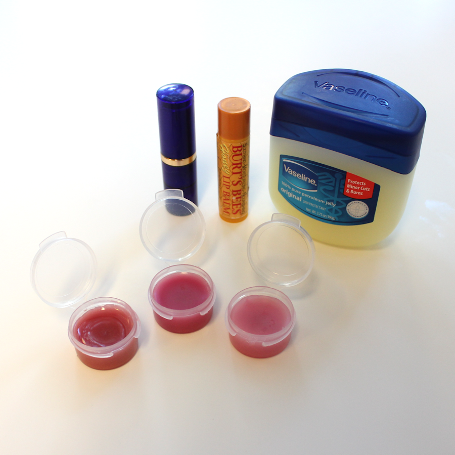 Not using a lipstick? Make lip balm from it. Mix vaseline with lipstick. Stir with tooth pick.