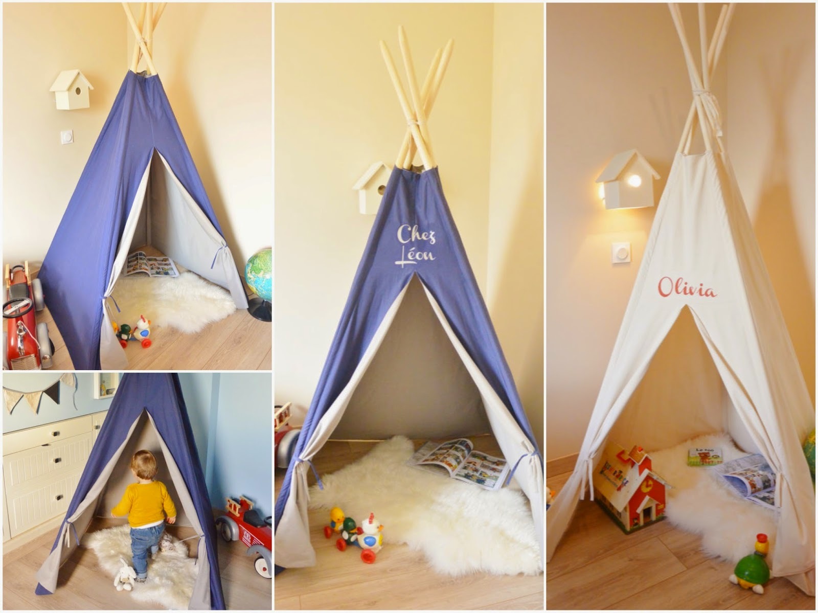 un nouveau regard d co enfant une tente tipi dans la chambre. Black Bedroom Furniture Sets. Home Design Ideas