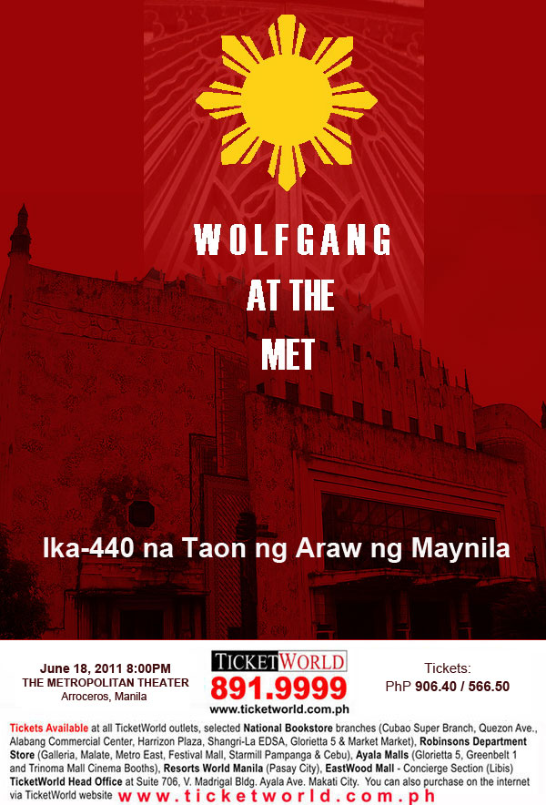 Wolfgang Live in Metropolitan Theater in Arroceros, Manila, poster, wallpaper, image, photo, picture,