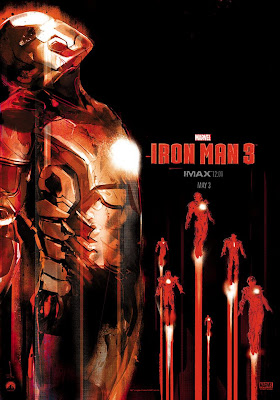 Marvel's Iron Man 3 IMAX Midnight Screening One Sheet Movie Poster by Jock