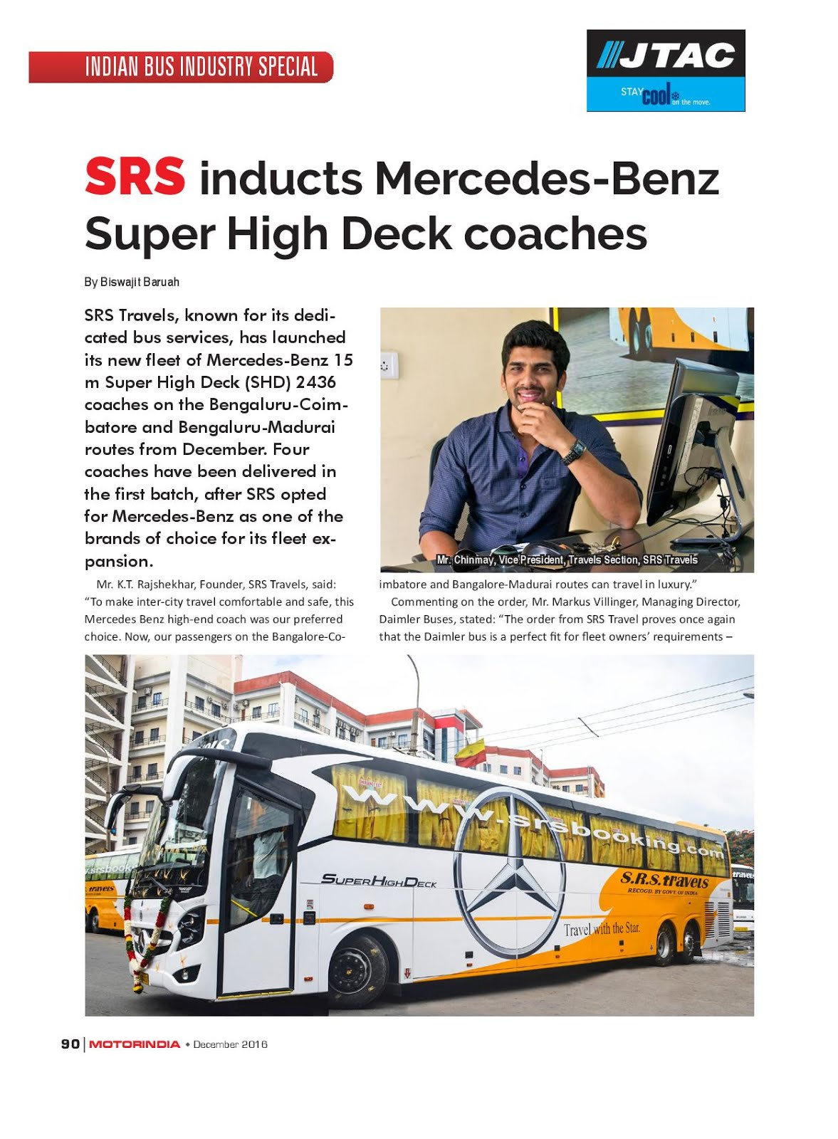 MOTOR INDIA ARTICLE 8 : SRS TRAVELS