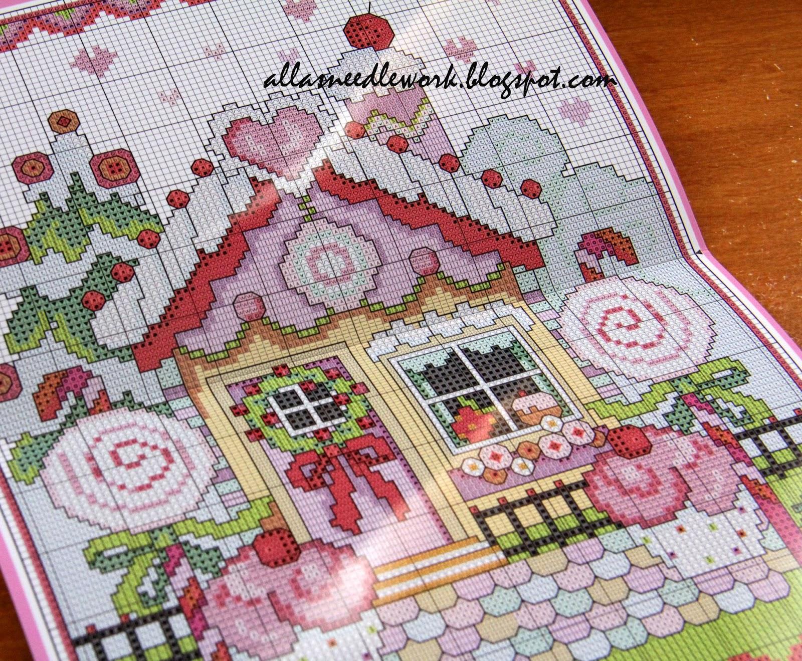 Вышивка пряничный домик схема 9
