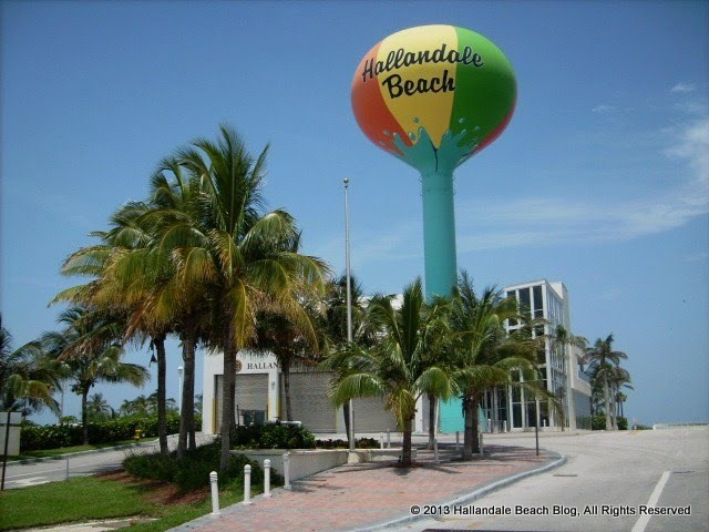 Hallandale Beach Water Tower on A1A/Ocean Drive, July 3, 2009 photo by South Beach Hoosier