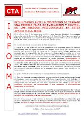 DENUNCIAMOS ANTE LA INSPECCIÓN DE TRABAJO UNA POSIBLE FALTA DE EVALUACIÓN Y CONTROL DE LOS RIESGOS