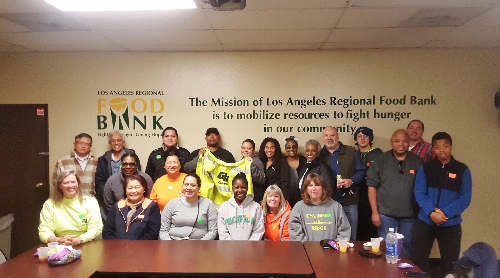 District 7 Volunteer Day At The La Regional Food Bank Caltrans