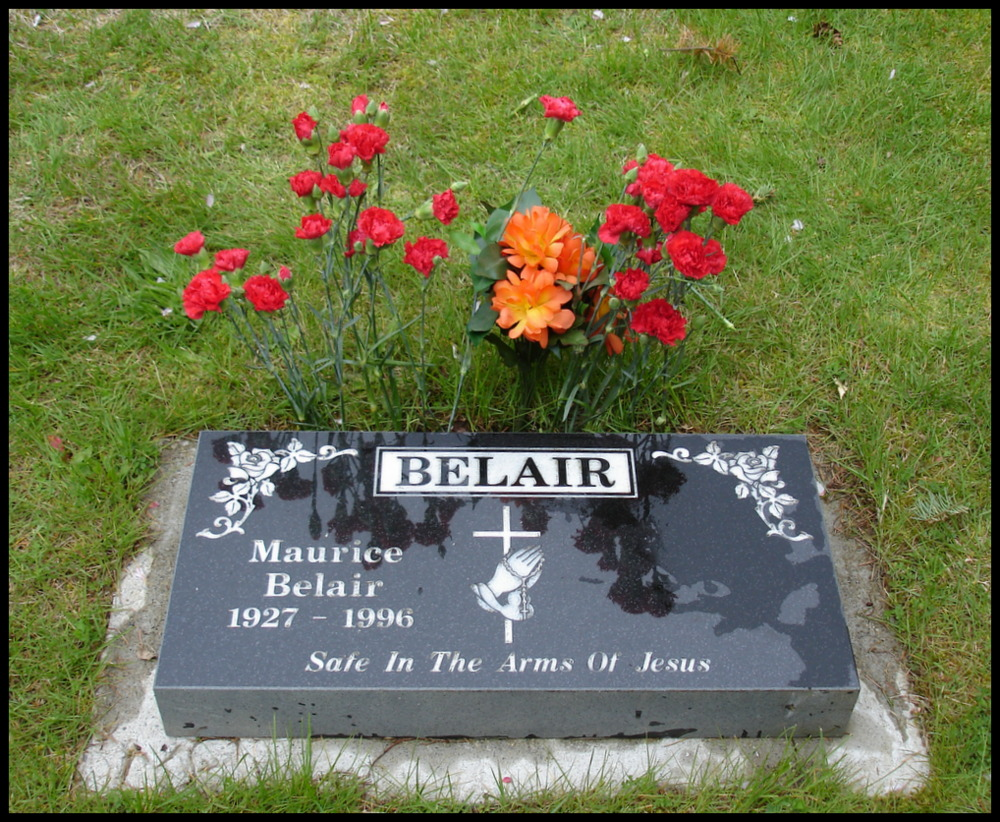 Maurice Belair gravemarker