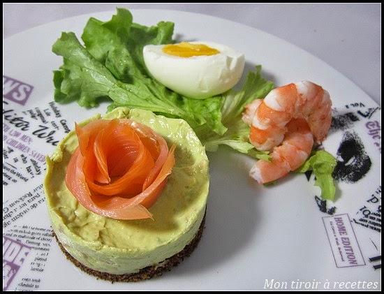 cheesecake saumon avocat