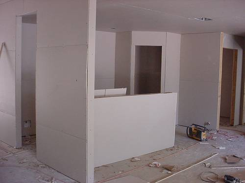 Gypsum Wall Board ~ Office and factory renovation how to make dry wall