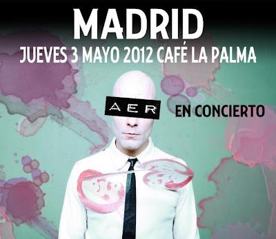 AER, concierto, café, la palma, madrid, sorteo, entradas, gratis