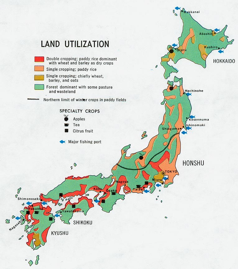 Japan map political regional