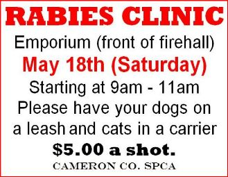 5-18 Rabies Clinic--Emporium