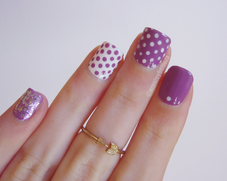 Polka dots nails Mix & match nail art