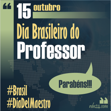 15 de octubre #DíaDelMaestro brasileño #Brasil