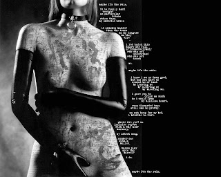 Gothic Girl With Collar Dark Wallpaper