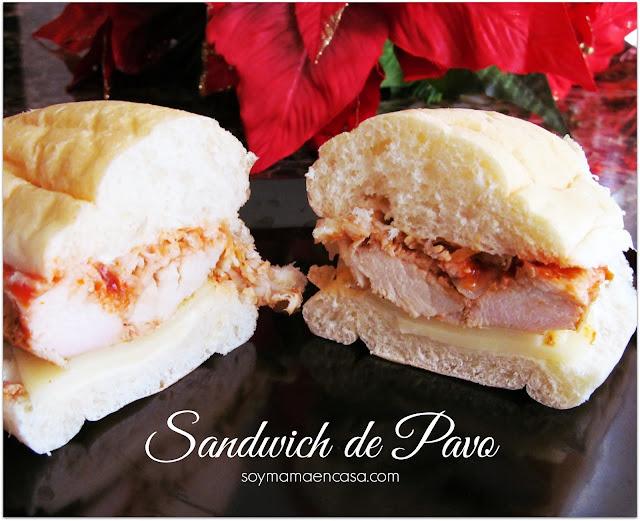 Rico sandwich de pavo
