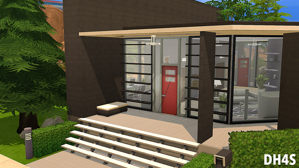 Casa moderna luxuosa the sims 4 pirralho do game Casas modernas sims 4 paso a paso