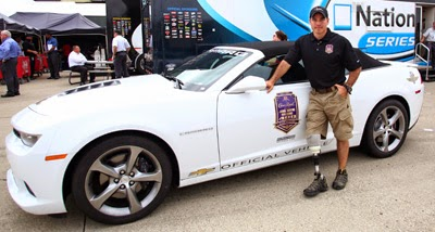 John Wayne Walding Poses Next To An Official Race Vehicle #nascar #CrownHeroes #JWW400
