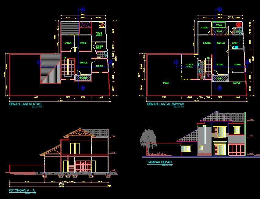 74 Cara Membuat Desain Rumah 3d Dengan Autocad 2010