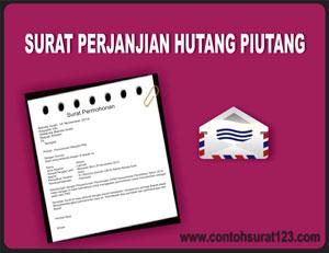Gambar Contoh Surat Perjanjian Hutang Piutang