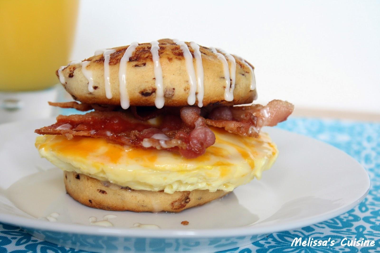 Melissa's Cuisine: Cinnamon Roll Breakfast Sandwich