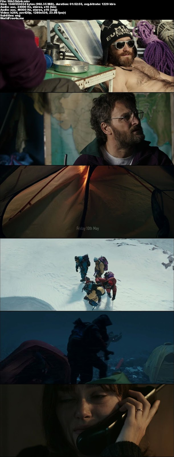 Screen Shot Of Everest 2015 In Hindi English Dual Audio Bluray 720P