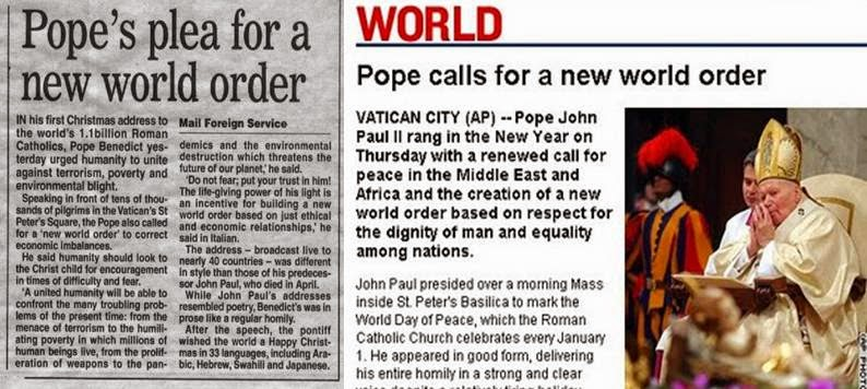 Image result for zionista new world order pope