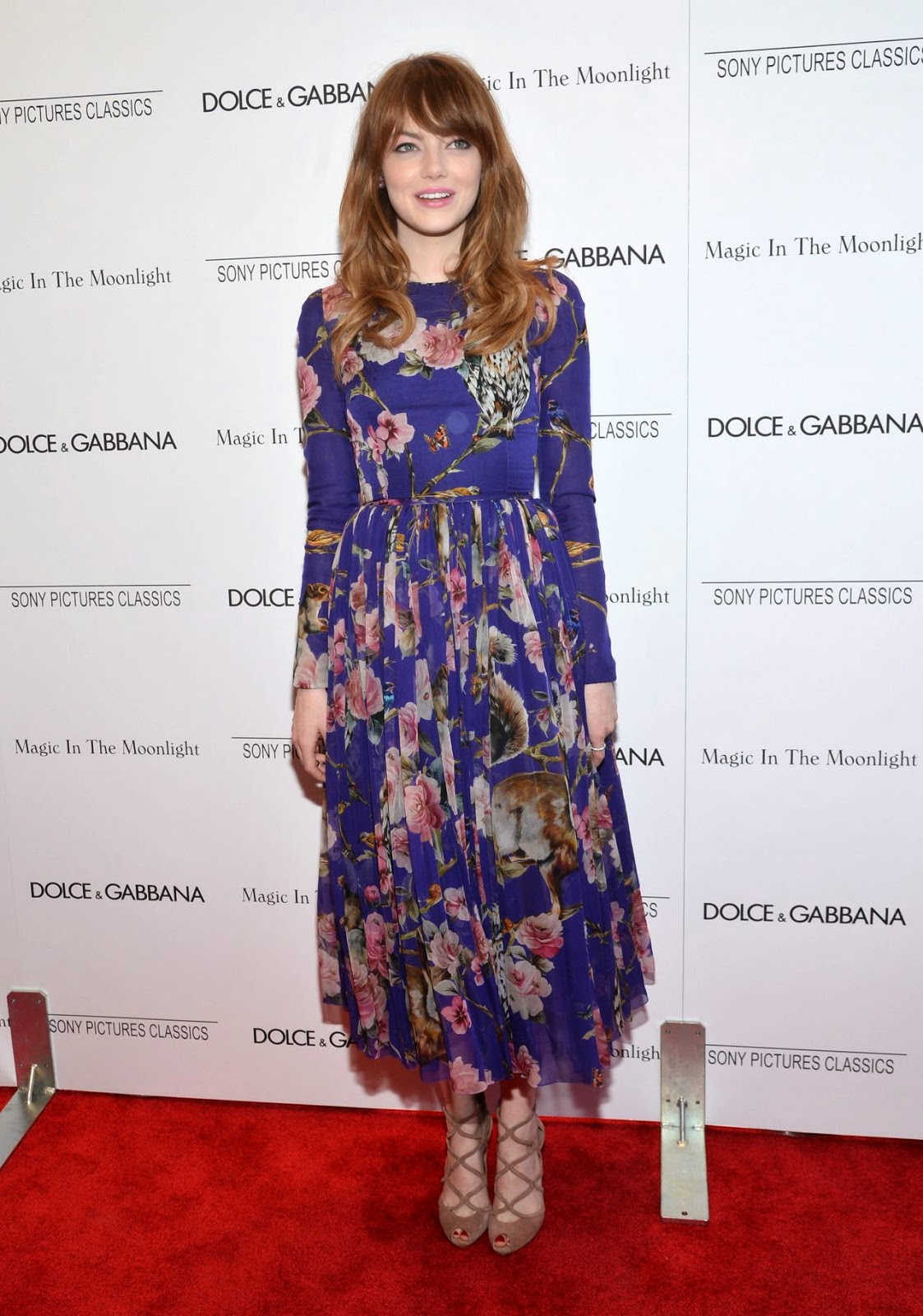 Emma Stone is charming in Dolce & Gabbana at the 'Magic in the Moonlight' NY Premiere