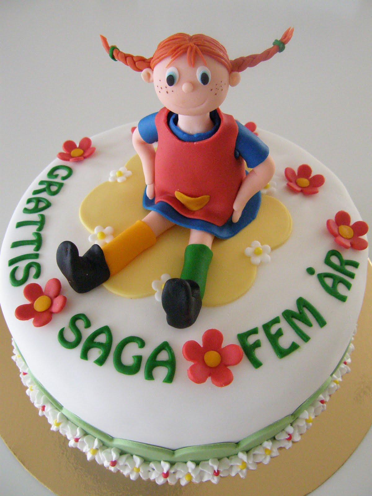 pippi dekoration till tårta