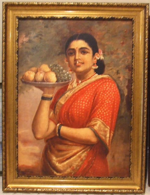 Raja Ravi Varma's Paintings: A Homely South Indian Women