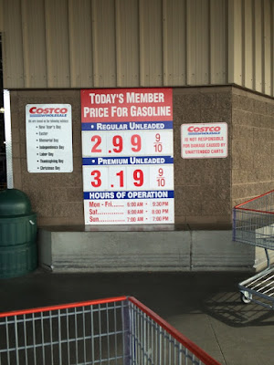 Costco gas for Mar. 21, 2015 at Redwood City, CA