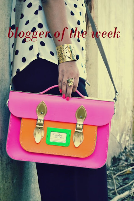How to wear neon leather satchel