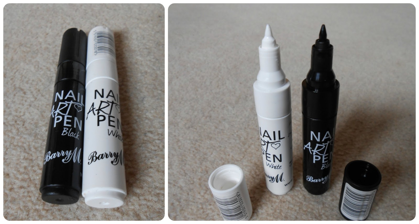 Glitter & Gloss: Simple Nail Art 7: Nail Art Pens (Barry M & Sharpie ...
