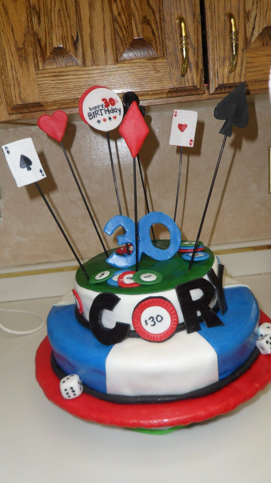 Creations By Chelsea Poker 30th Birthday Cake
