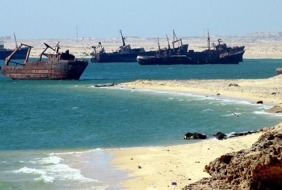 9 Kuburan Terunik di Dunia - Kuburan Bangkai Kapal, Mauritania