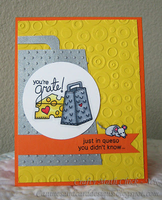 Cheese card by Crafty Math-Chick using Just Say Cheese Stamp set